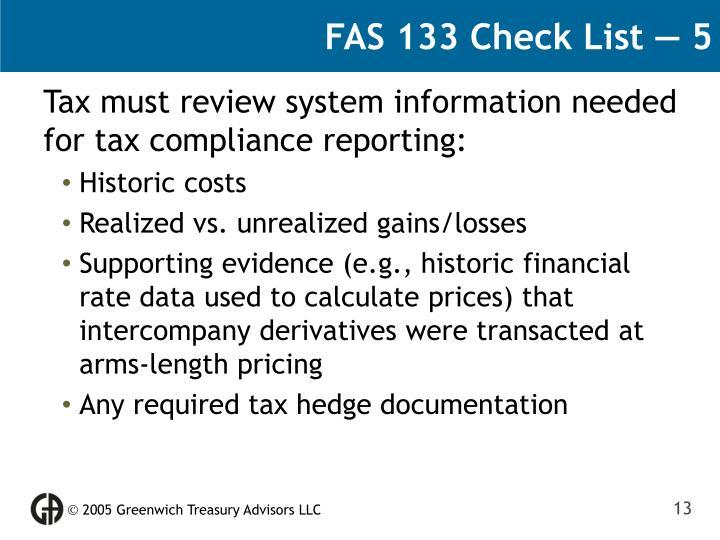 FAS 133 Check List — 5