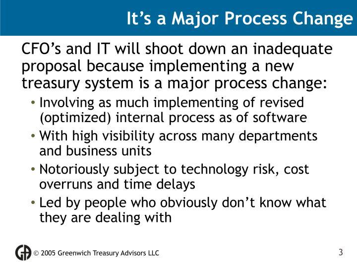 It's a Major Process Change