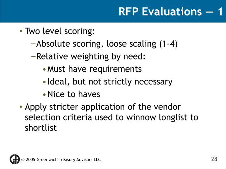 RFP Evaluations — 1