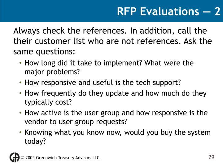RFP Evaluations — 2