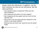 rfp evaluations 2