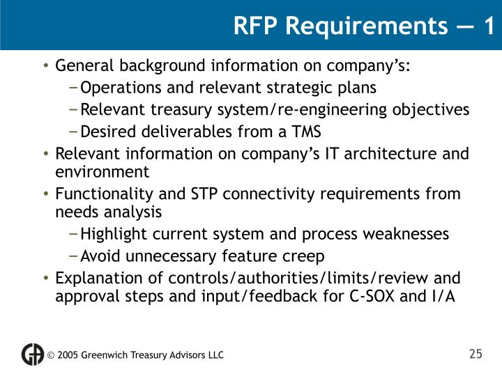 RFP Requirements — 1