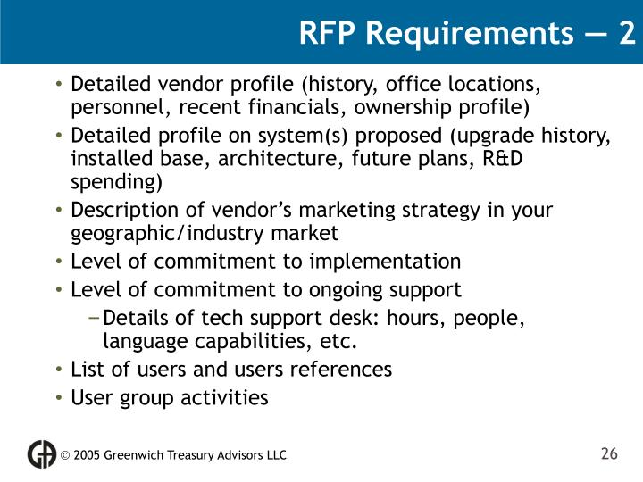 RFP Requirements — 2