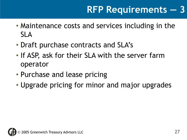 RFP Requirements — 3