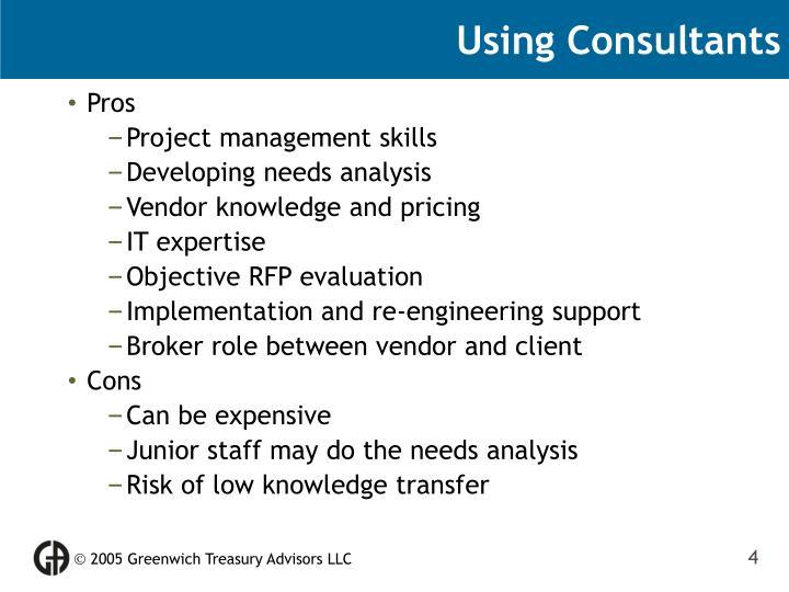Using Consultants