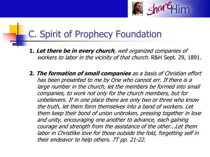 C. Spirit of Prophecy Foundation