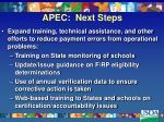 apec next steps