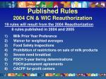 published rules 2004 cn wic reauthorization