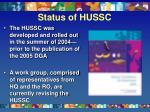 status of hussc