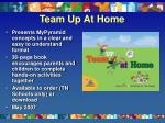 team up at home