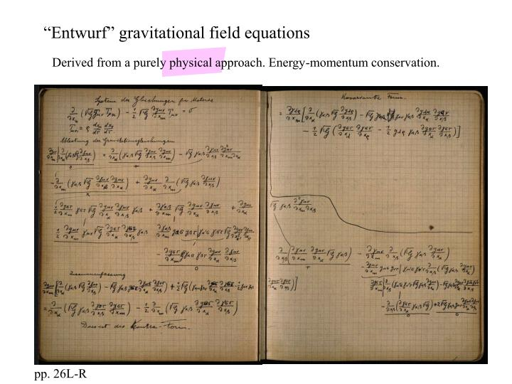 """Entwurf"" gravitational field equations"