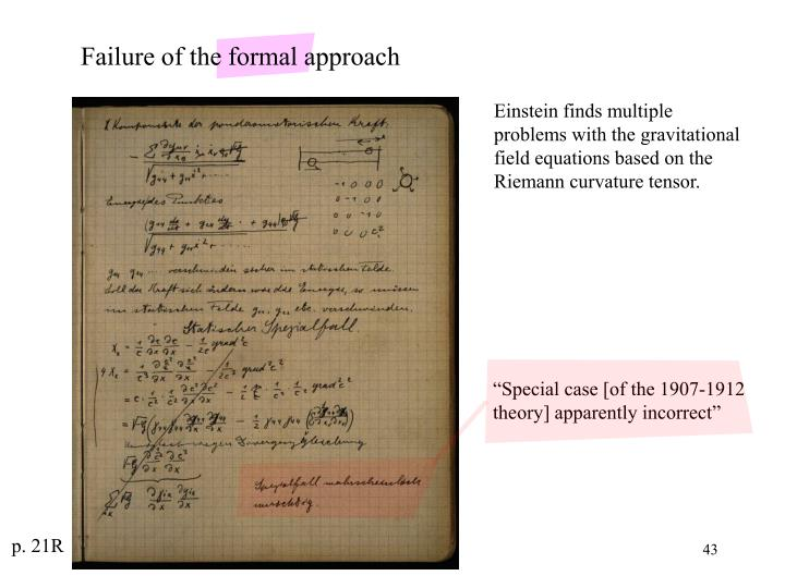 """Special case [of the 1907-1912 theory] apparently incorrect"""