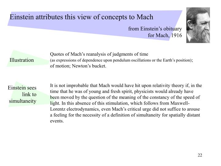 Quotes of Mach's reanalysis of judgments of time