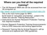 where can you find all the required training