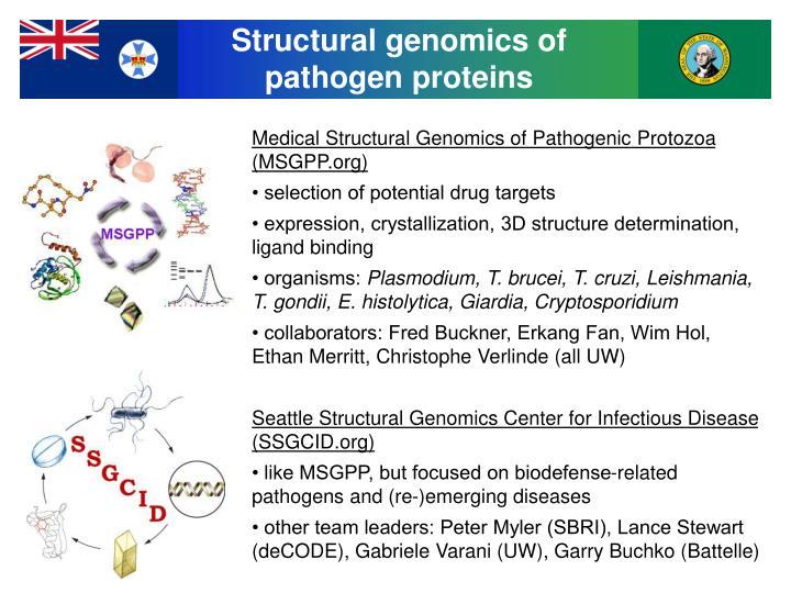 Structural genomics of
