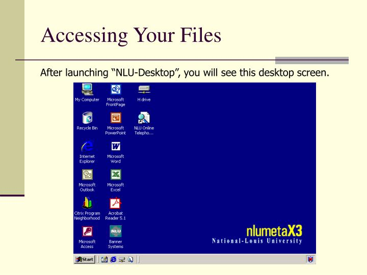 Accessing Your Files