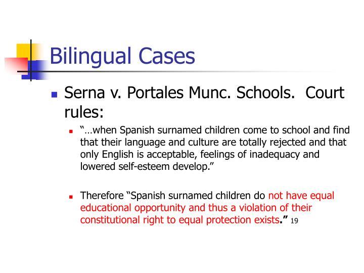 Bilingual Cases