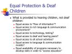 equal protection deaf children