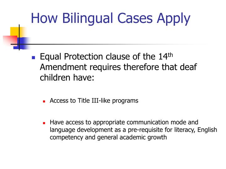 How Bilingual Cases Apply