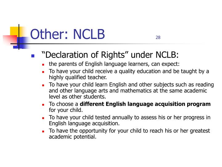 Other: NCLB