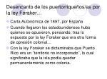 desencanto de los puertorrique os as por la ley foraker