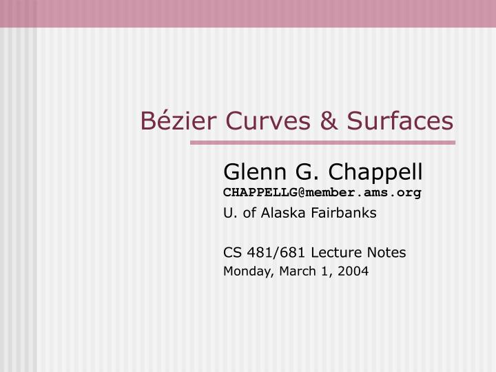 b zier curves surfaces