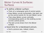 b zier curves surfaces surfaces