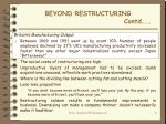 beyond restructuring contd2