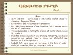 regenerating strategy contd