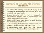 signposts to managing for strategic flexibility1
