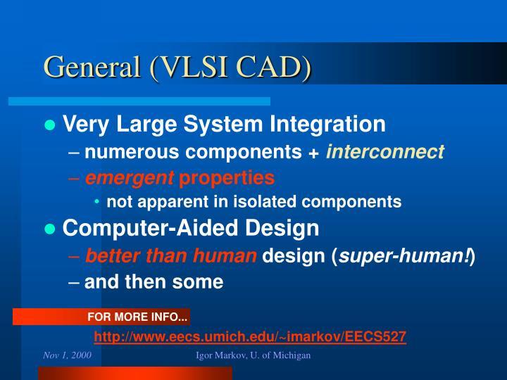 General (VLSI CAD)