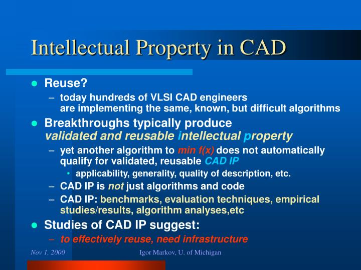Intellectual Property in CAD