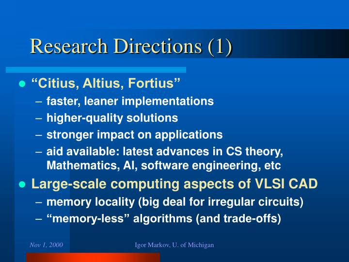 Research Directions (1)