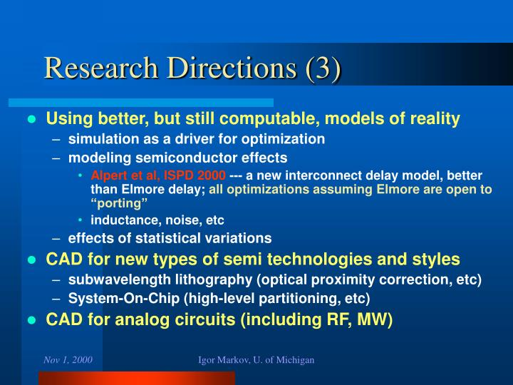 Research Directions (3)