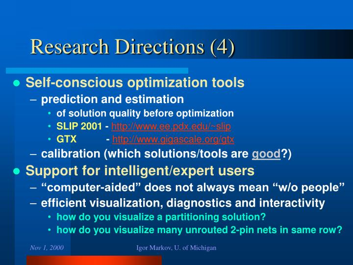 Research Directions (4)
