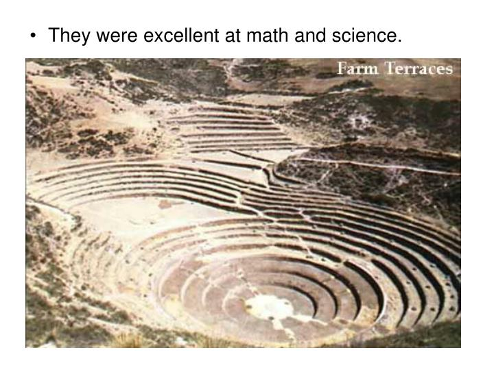 They were excellent at math and science.