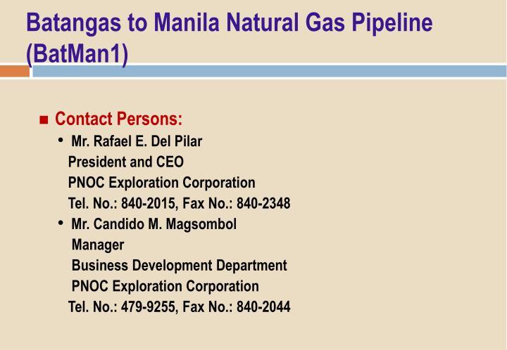 Batangas to Manila Natural Gas Pipeline