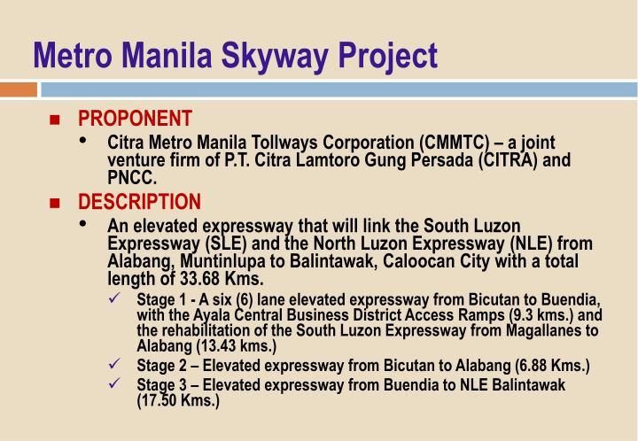 Metro Manila Skyway Project