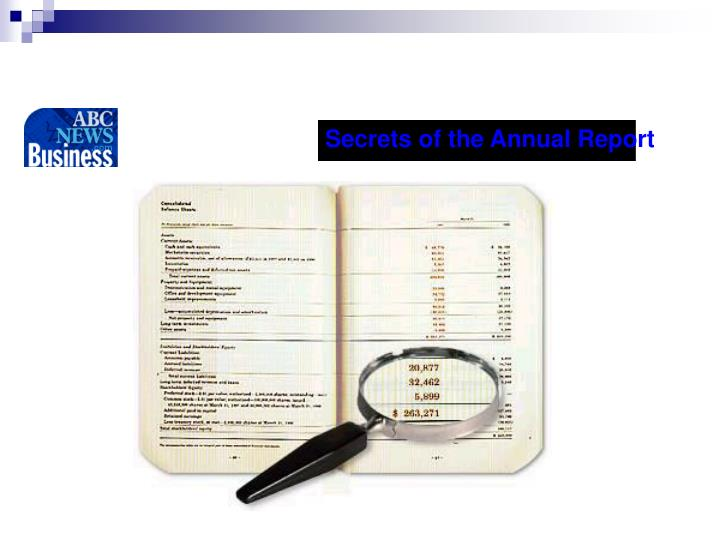 Secrets of the Annual Report