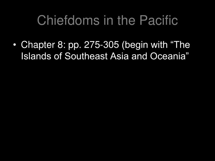 Chiefdoms in the Pacific