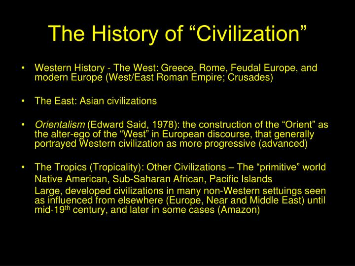 "The History of ""Civilization"""