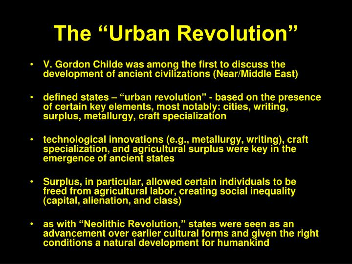"The ""Urban Revolution"""
