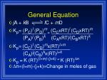 general equation
