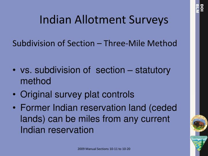 Indian Allotment Surveys