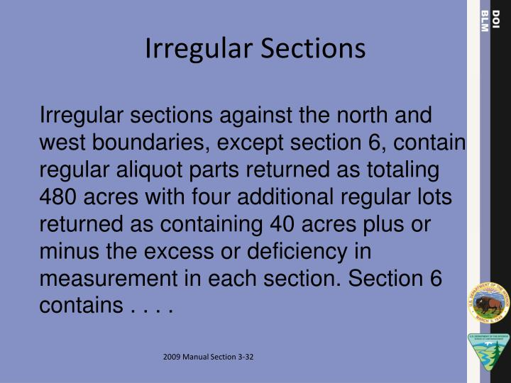 Irregular Sections