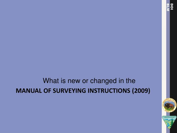 What is new or changed in the