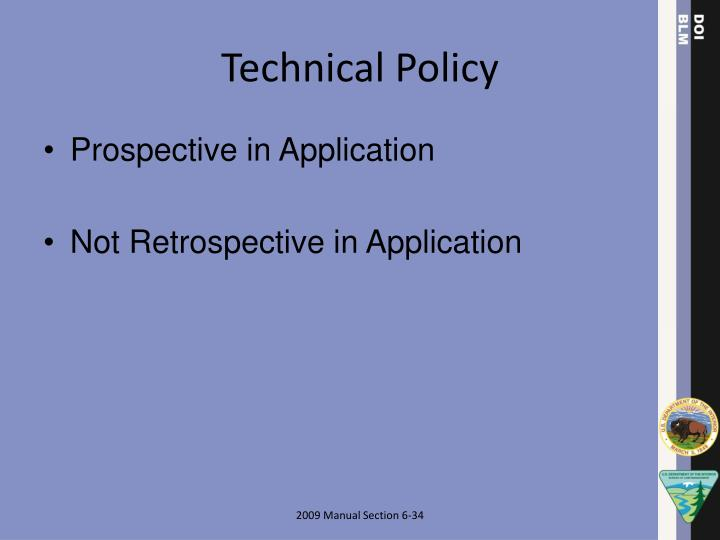Technical Policy