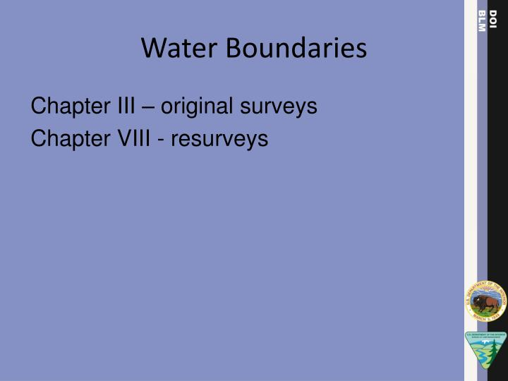 Water Boundaries