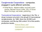 conglomerate corporations companies engaged in quite different activities