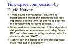 time space compression by david harvey